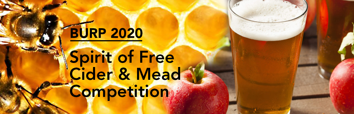 BURP 2020 spirit of free cider and mead competition